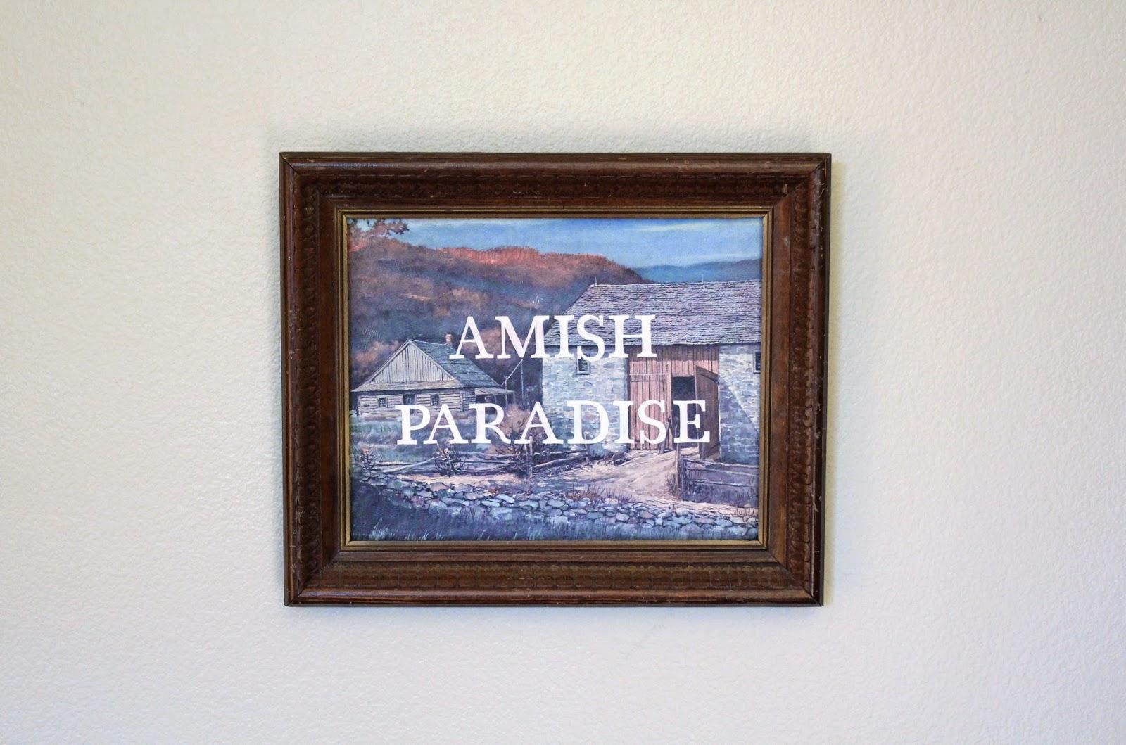 Amish Paradise    acrylic on found painting   2014