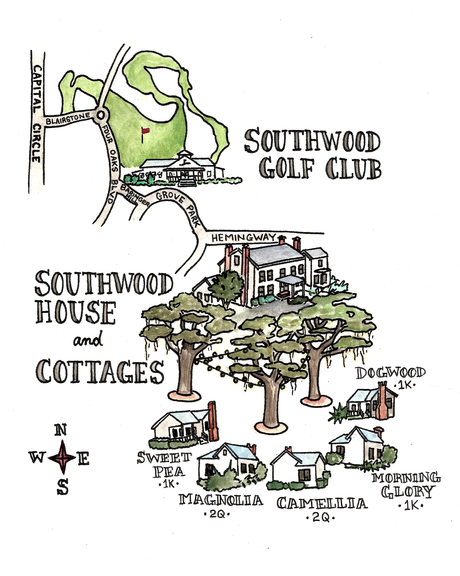 Map of Southwood