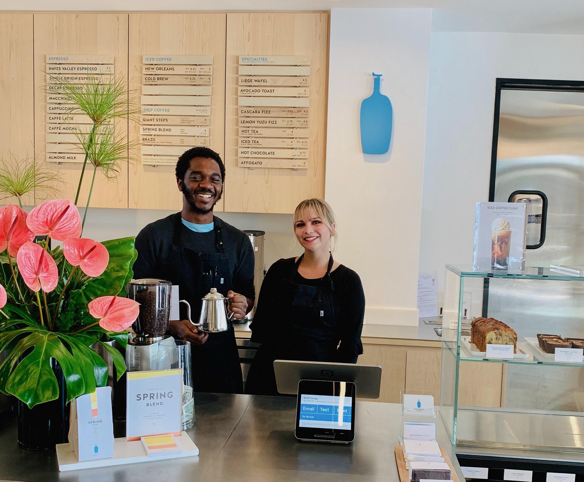 Blue Bottle Coffee counter in HanaHaus Newport Beach.