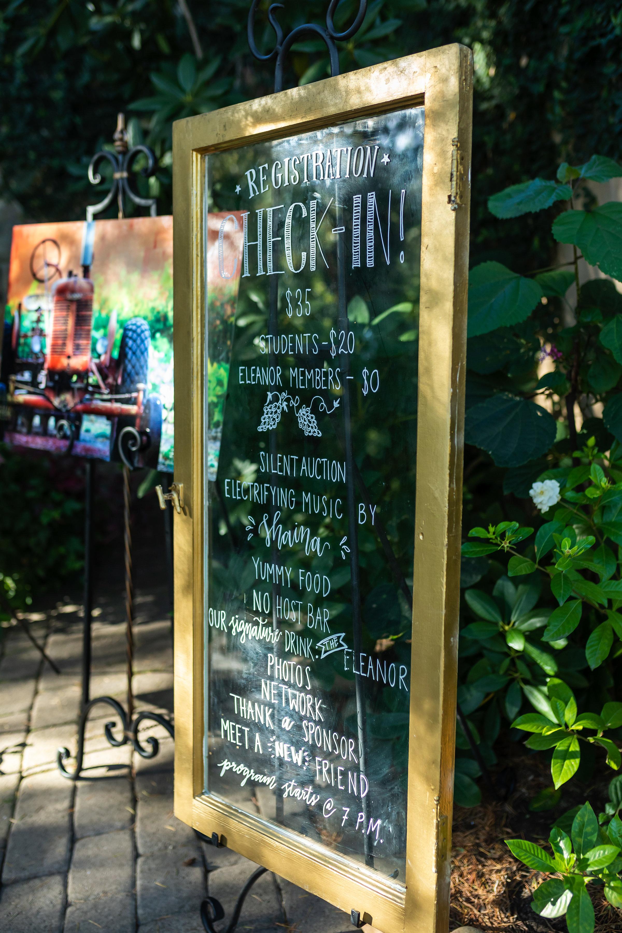 Outdoor Event Decor Program Signage
