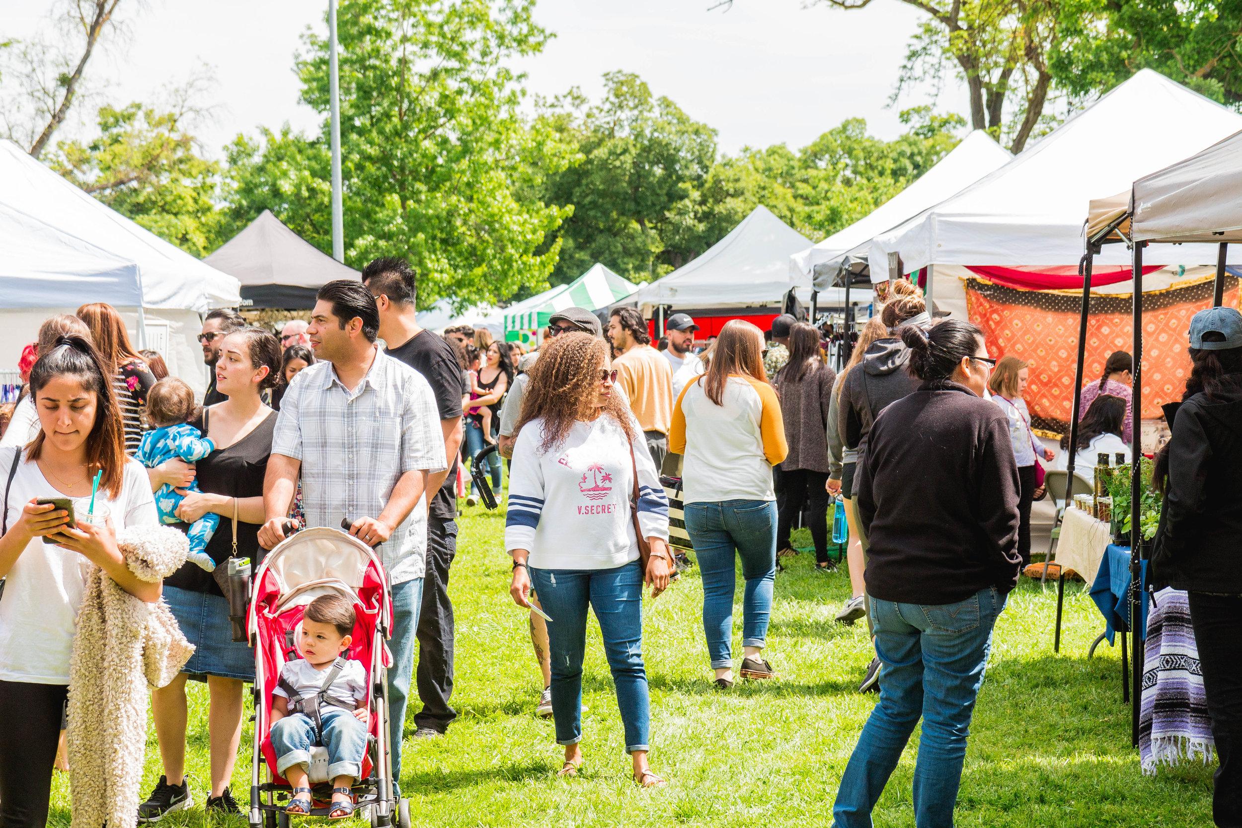 Summer Festival Family Craft Fair Open Air Market