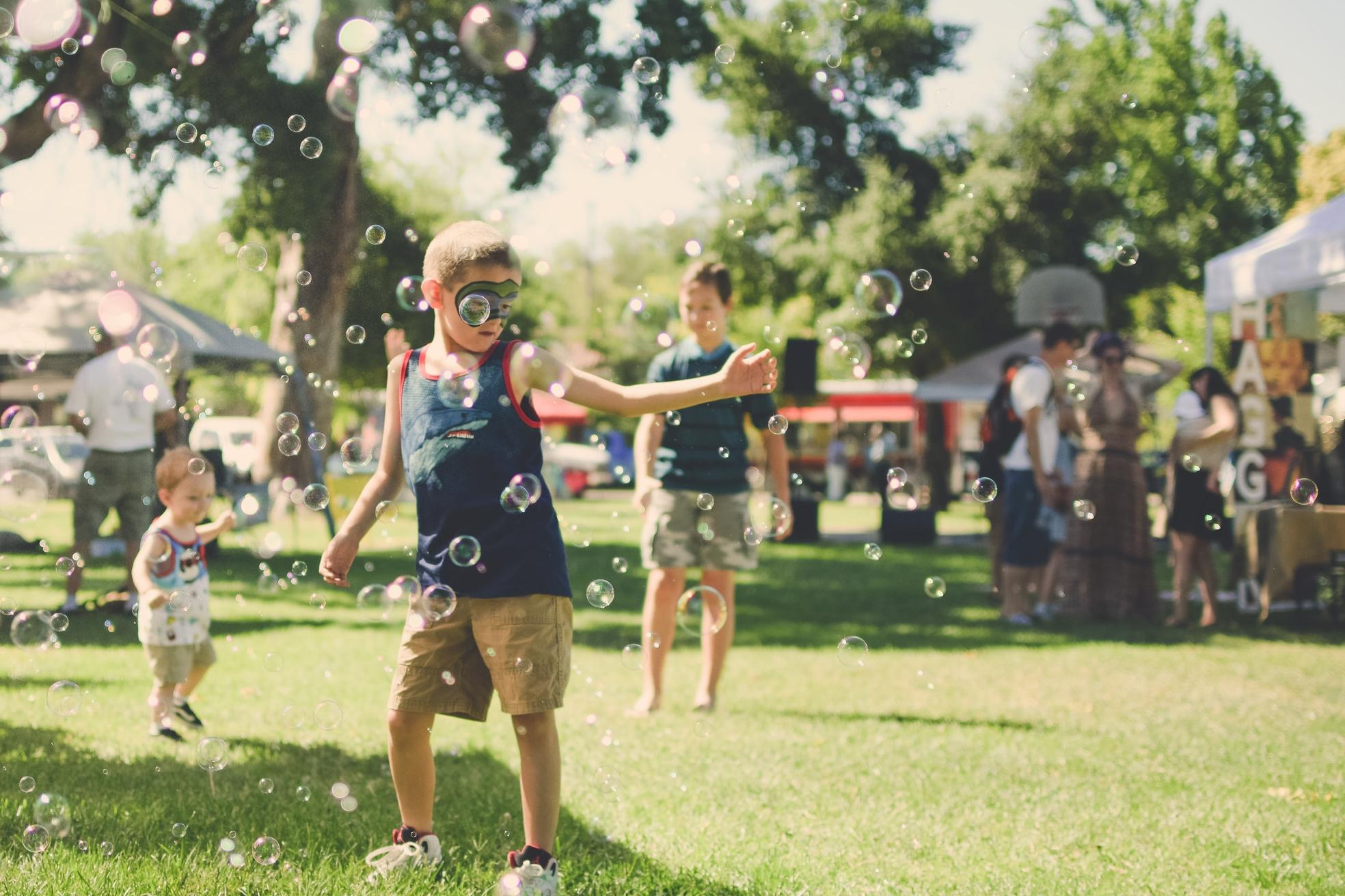 Bubbles Dancing Kid Park Festival Summer Fair