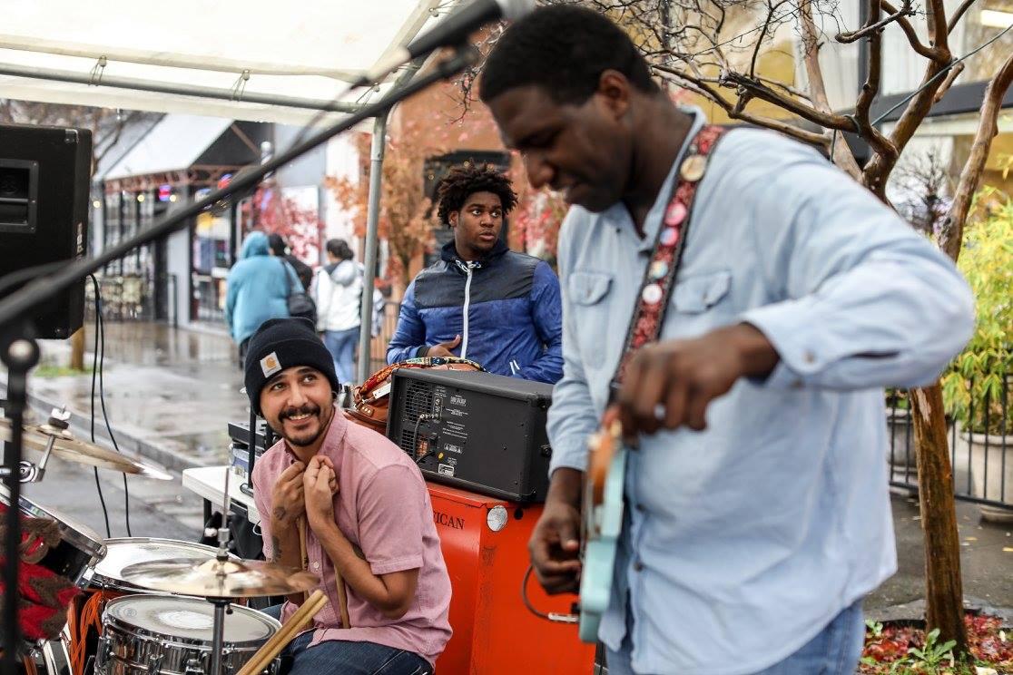 Live Band Guitarist Drummer Street Fair Music