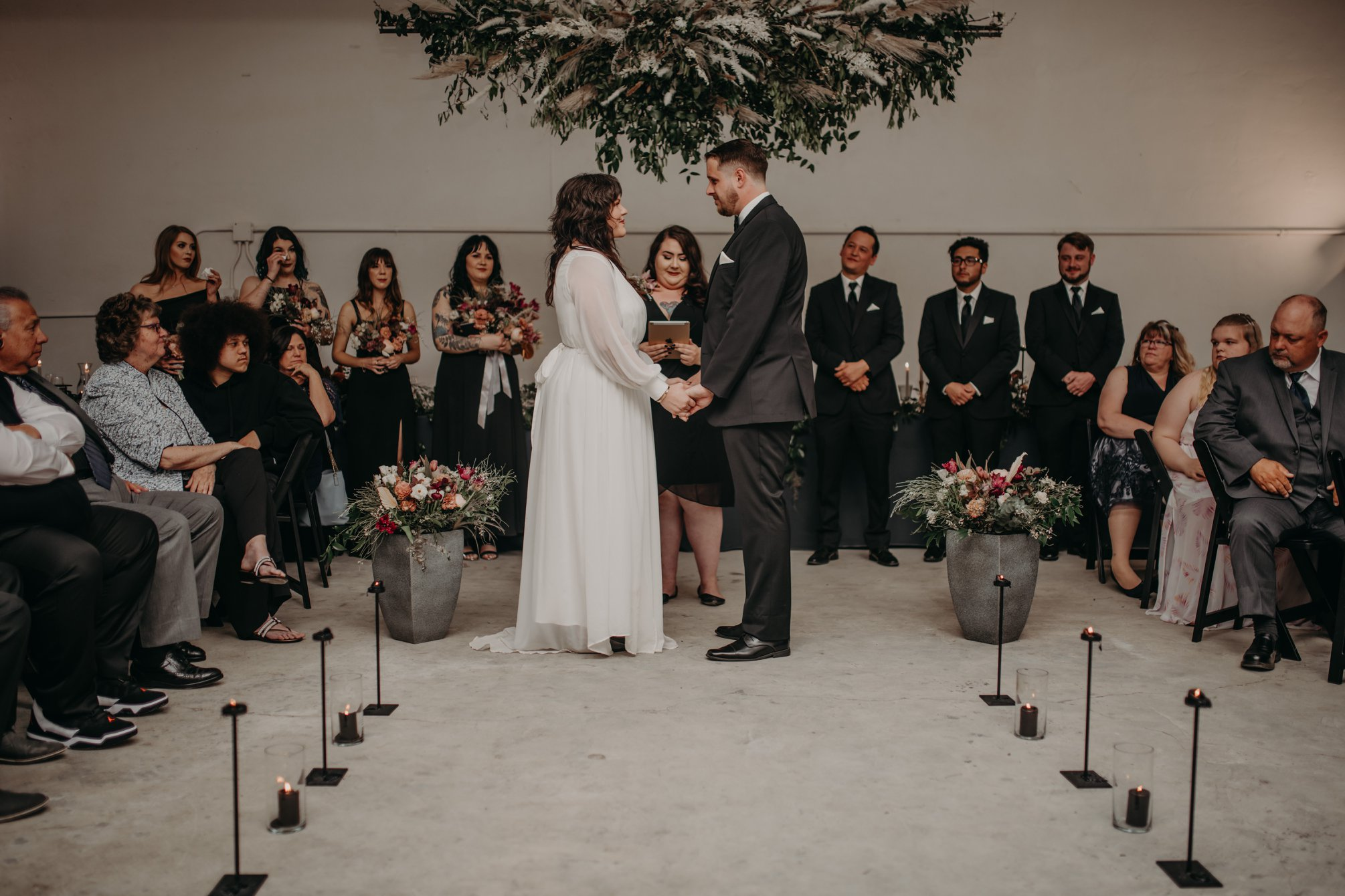 Moody Industrial Wedding Ceremony