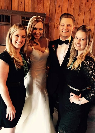 """The wedding planners from Southern Wedding Bell with the happy couple after they said ,""""I do""""."""