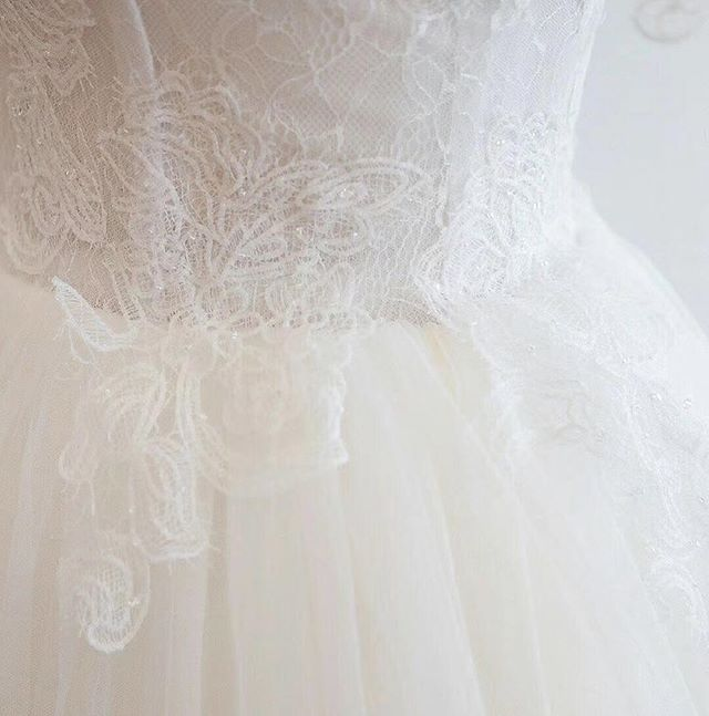 Sequin beaded lace detail! 🤩 I enjoy it the most when clients allow me to pick the lace and try out new designs! #customweddingdress #uniqueweddingdress #beadedlace #gettingmarried #sayyestothedress