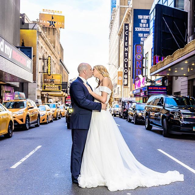 The heart beats faster here than anywhere elsewhere...💗 #lovenyc Photos by: @rcnycvisuals  Bride: @_nikkimiller_ Make-up artist: @makeupartistrybyjillian Assistant: @dstormk  #nycbride#nycwedding #nywedding#bryantpark #customweddingdress#weddingphotography #weddinginspirations#weddingmakeup #weddingwire#theknot #instawedding#nyccouple #timessquarewedding #centralparkwedding #broadway