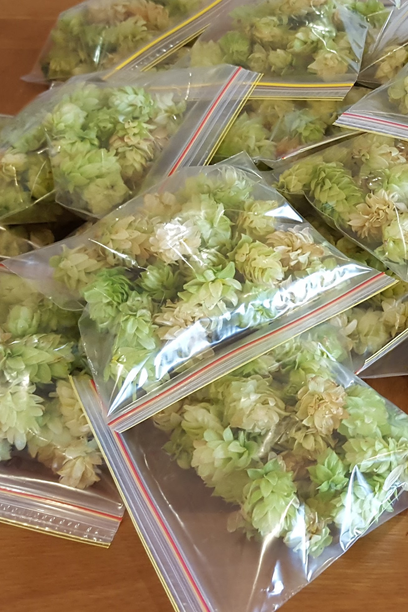 Homegrown Hops (added to the boil)