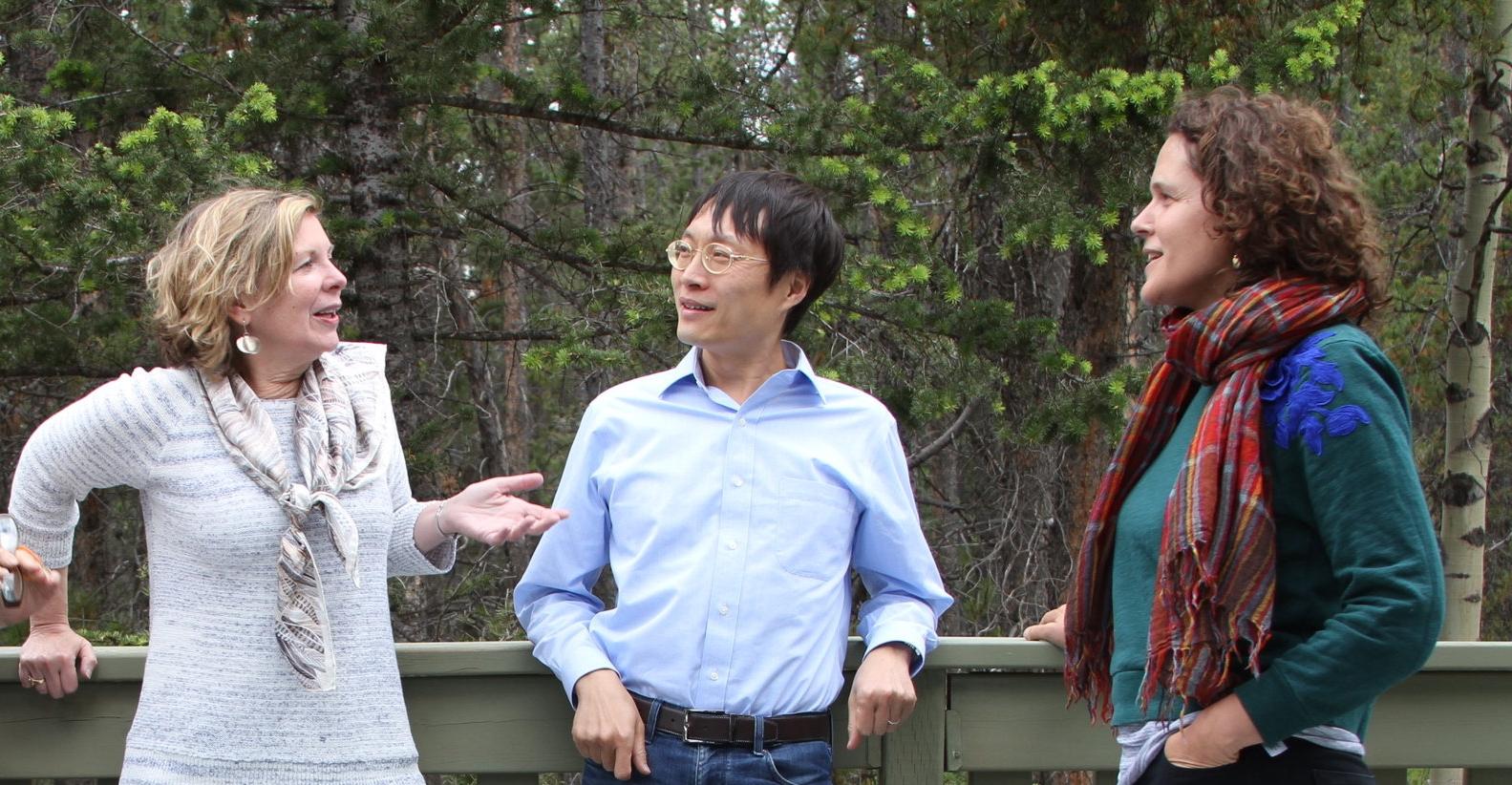 Susan Narucki, Lei Liang and Ligia Bouton
