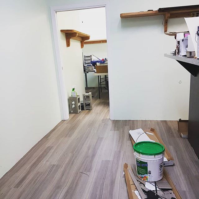 Oh my goodness you guys!! Our landlords Scott and Jess from @afterschoolwarriors  are working double time to get our Play Space ready for April. It's looking sooooo amazing. We are so excited!  #mapleridge #pittmeadows #seediblescafe #plantbased