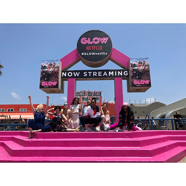 We had a blast doing the sound & AV setup for the @glownetflix event today at the iconic Muscle Beach in Venice! The perfect way to start the weekend ✨