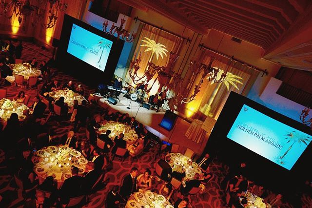 Another beautiful shot from The Beverly Hills Golden Palm Awards at the @montagebh ✨Sound, Lighting, & Projection by @padanoproductions Production by @theverycreativefirm Photography by Tasia Wells & Vince Madero