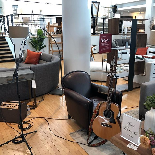 We spent our Sunday morning doing the sound setup for a very special event at @crateandbarrel in Beverly Hills!