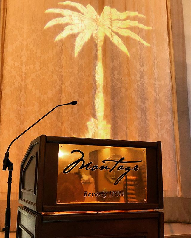 Dreaming of golden palm trees at the Montage Beverly Hills 🌴✨ Photo from the 2018 Golden Palm Awards | Lighting by @padanoproductions