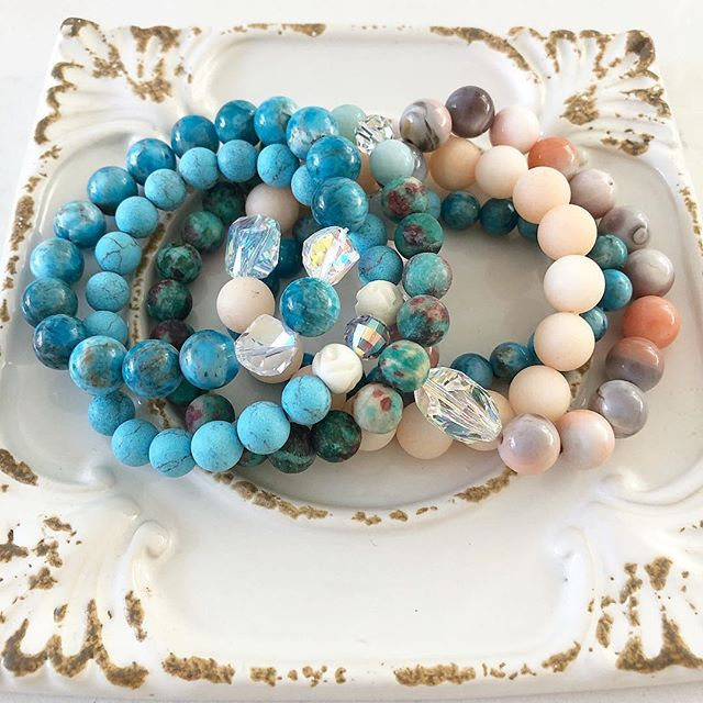 A bundle of summer bracelets 💙