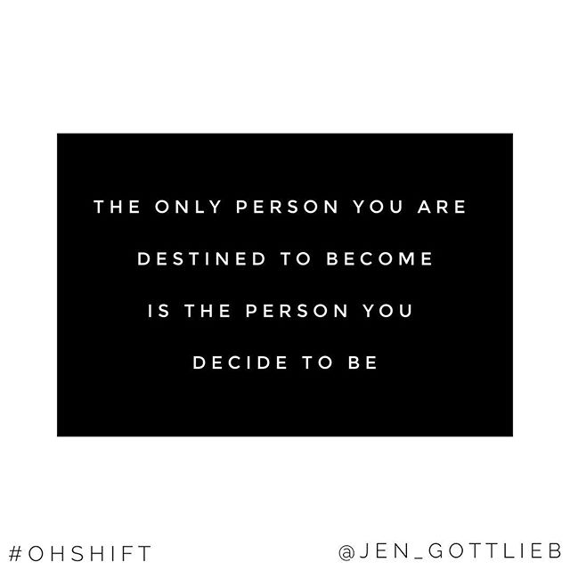 Love this quote from Ralph Waldo Emerson so much!  . The person we are today and the reality we have created is a result of the choices we've made up until now. . How are you going to show up? Who do you want to be?  Just decide to start now!