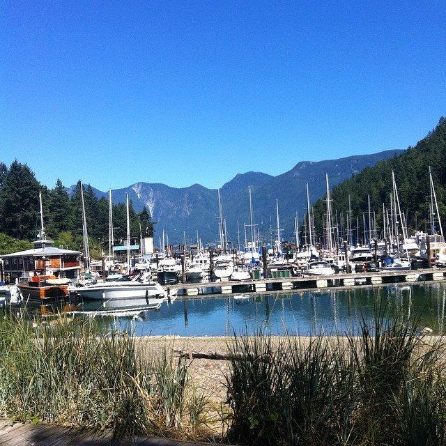 Bowen Island Marina / Union Steamship Marine Resort in Snug Cove, Bowen Island, BC.