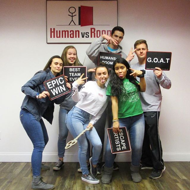 Good friends and good times! . Escape your world. Get lost in ours! . #teamhvr #humanvsroom #escaperoom #lehighvalleyescaperoom #lehighvalley #bethlehemescaperoom #bethlehem #bethlehempa #Pennsylvania #familyfun #birthdayideas #datenight #dateideas #birthday #riddles
