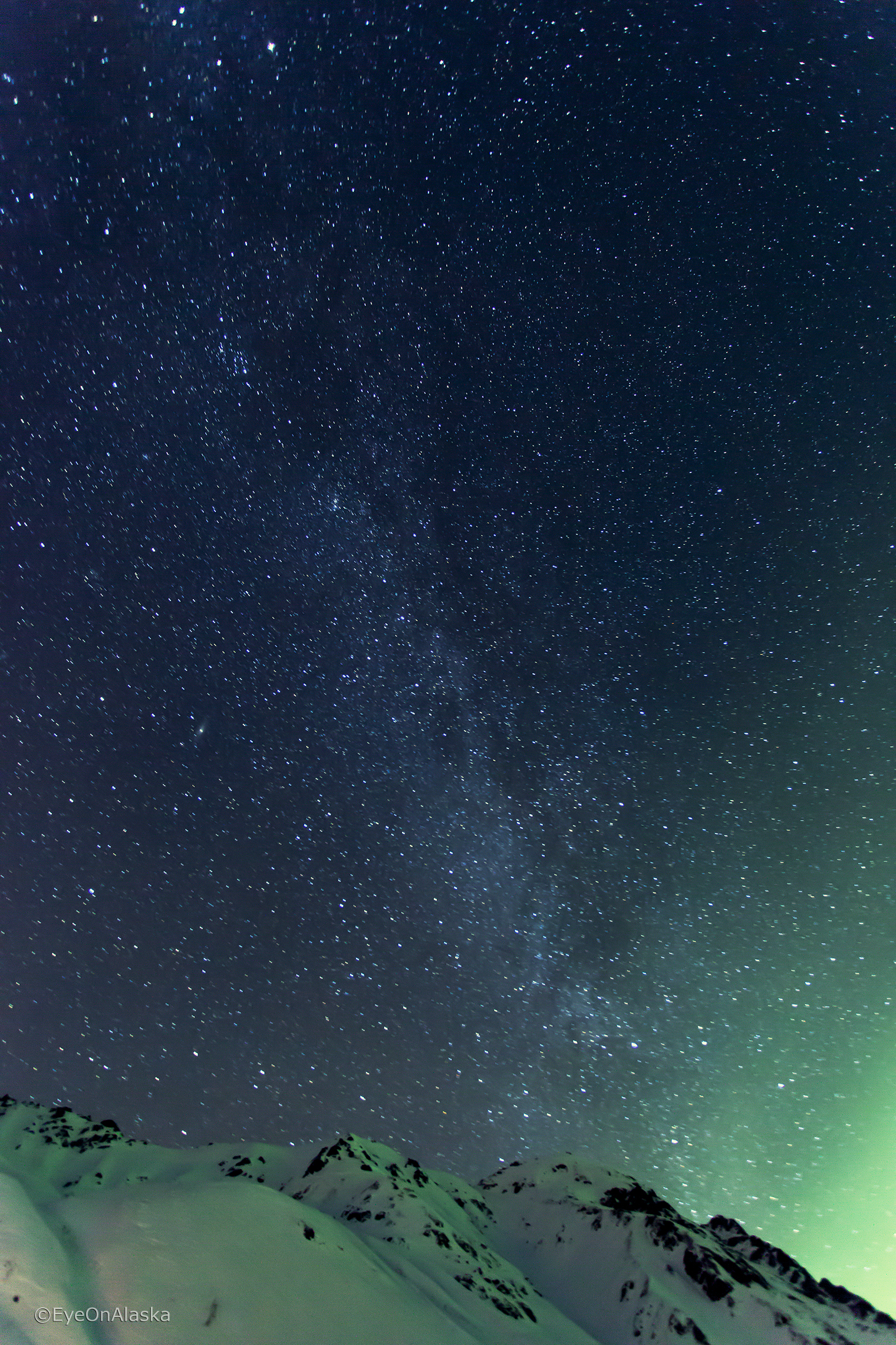 Aurora and Milky Way, Hatcher Pass.