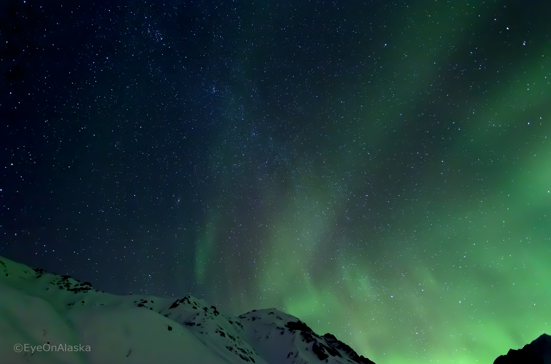 Hatcher Pass Milky Way and Aurora.