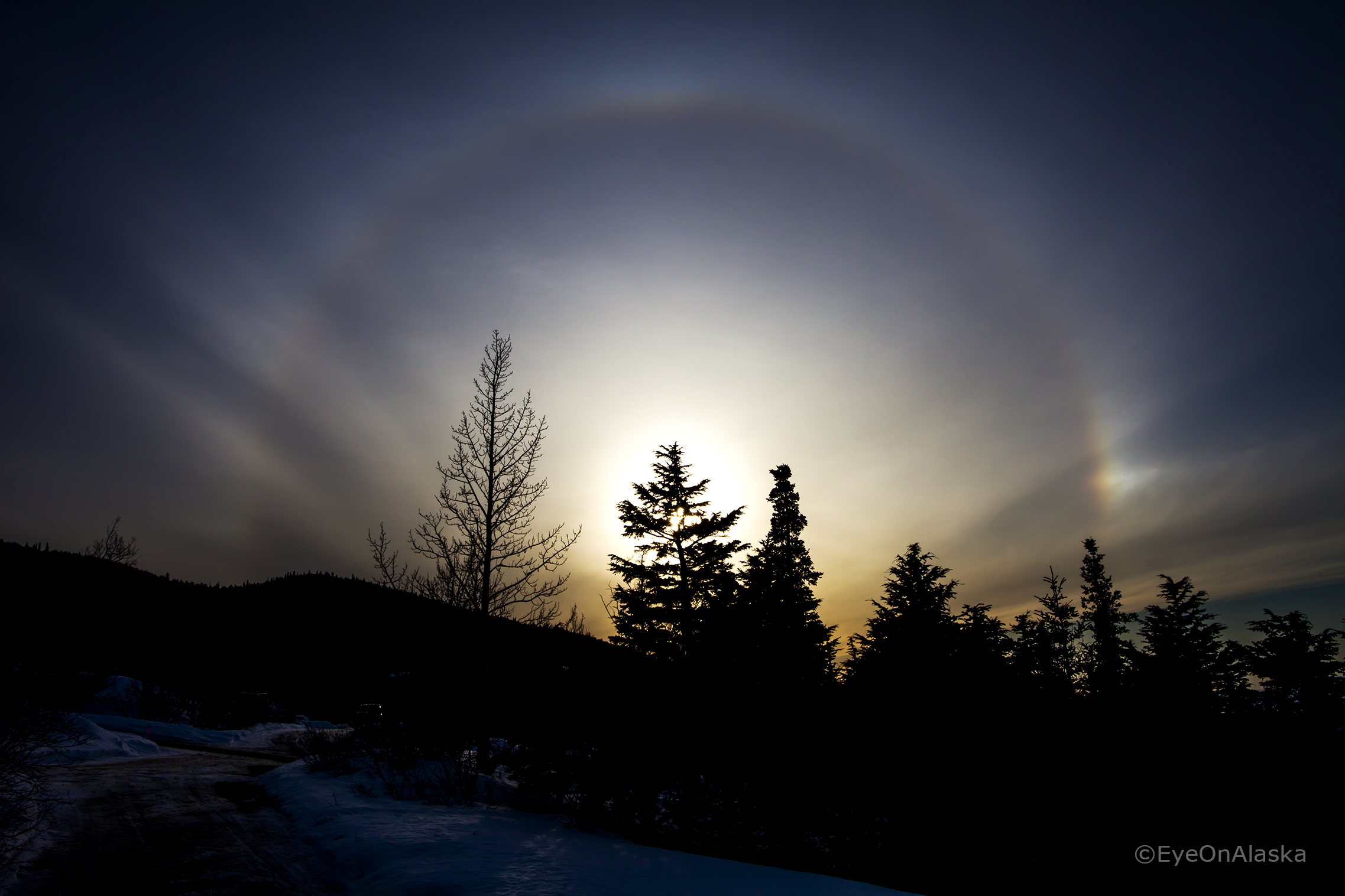 Sun Dog on a beautiful late afternoon.