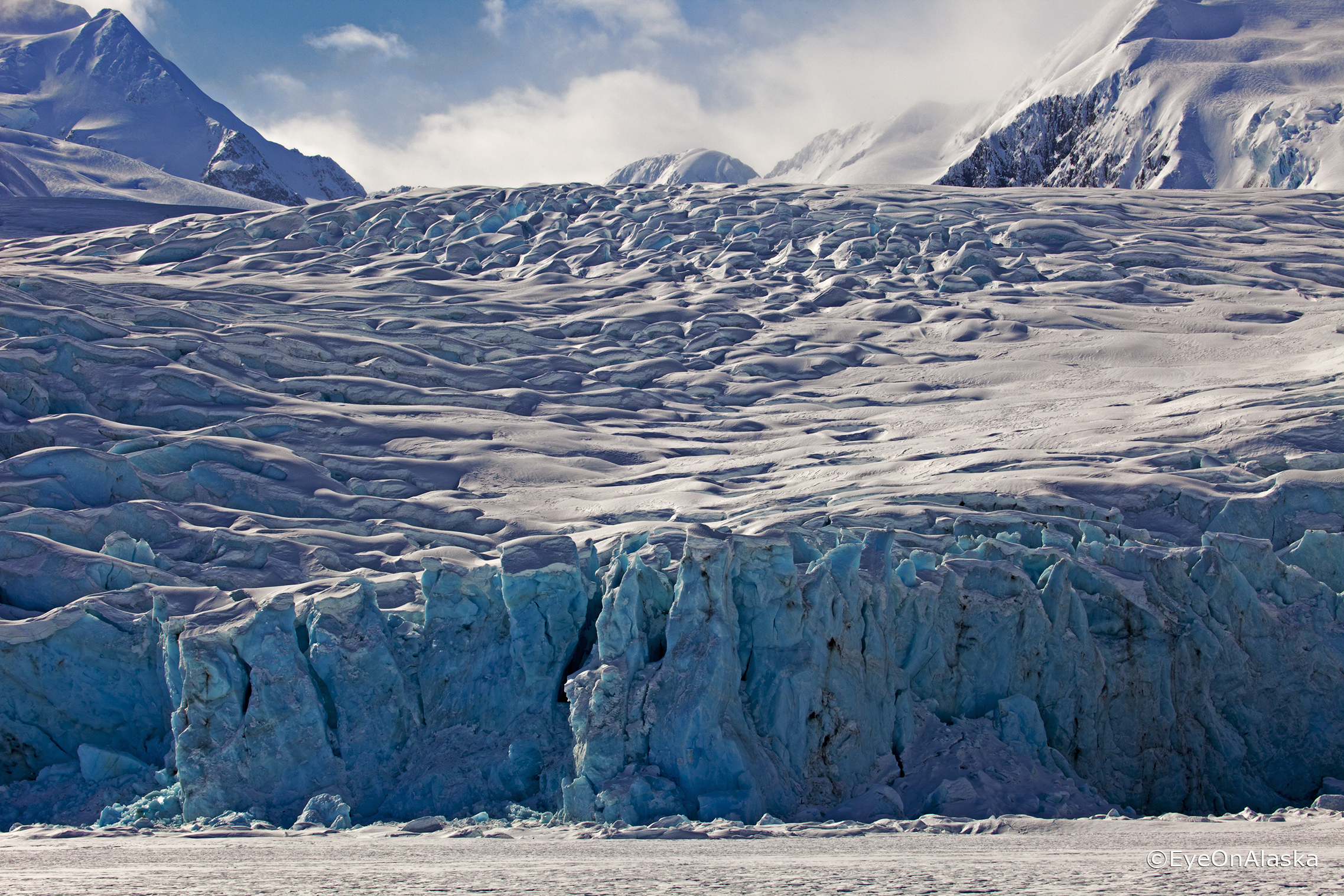 The face of Portage Glacier.
