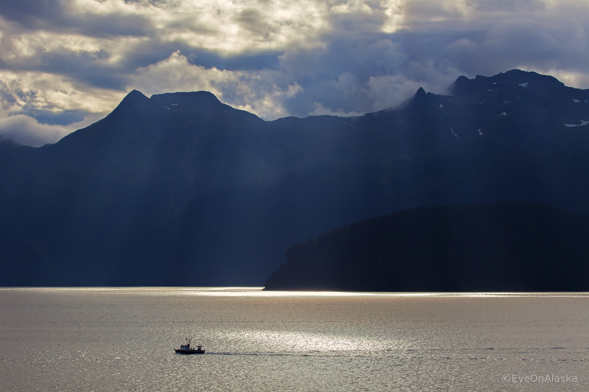Heading out on Resurrection Bay.