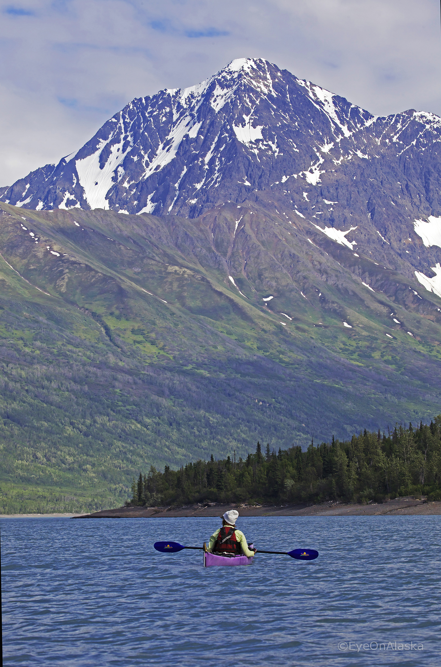 Kayaking on Eklutna Lake.