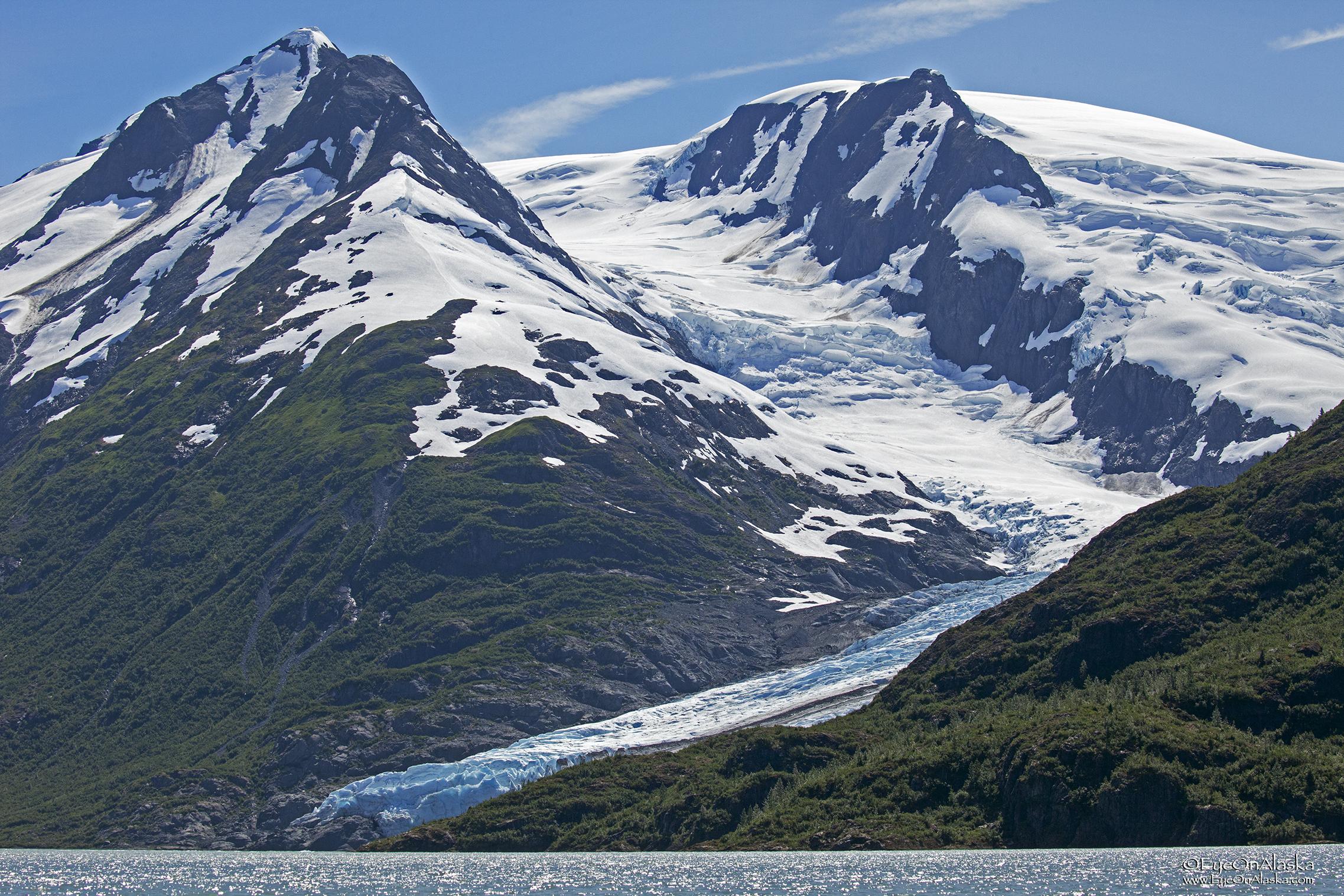 1st glimpse of Portage Glacier.