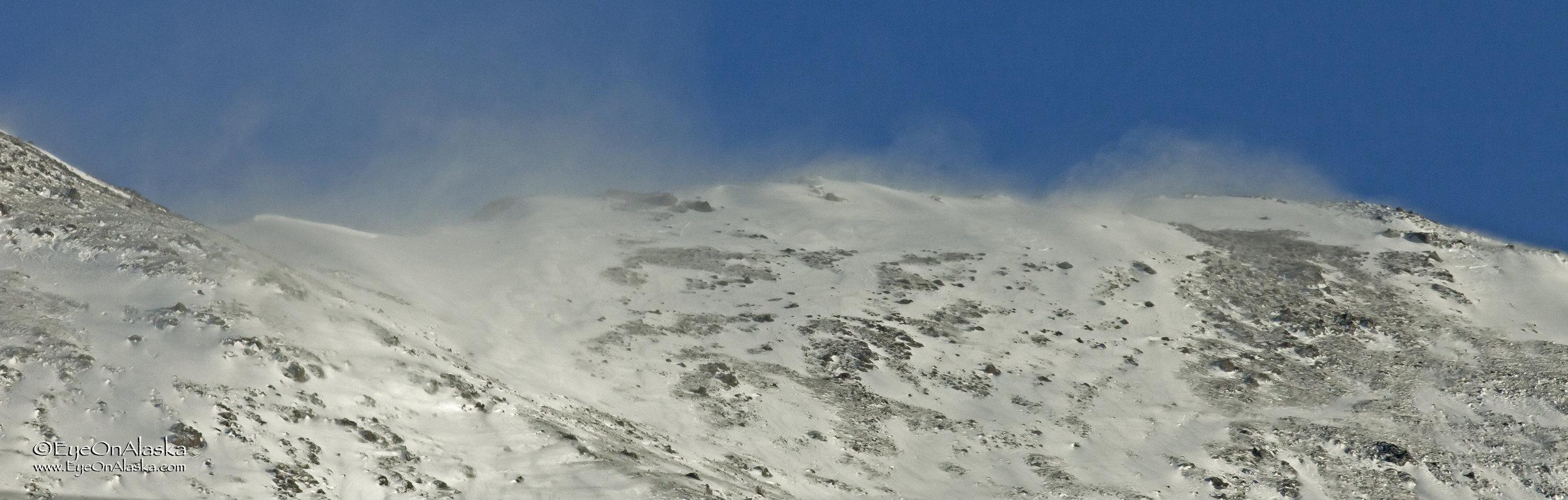 The Chugach Mountains behind the house.