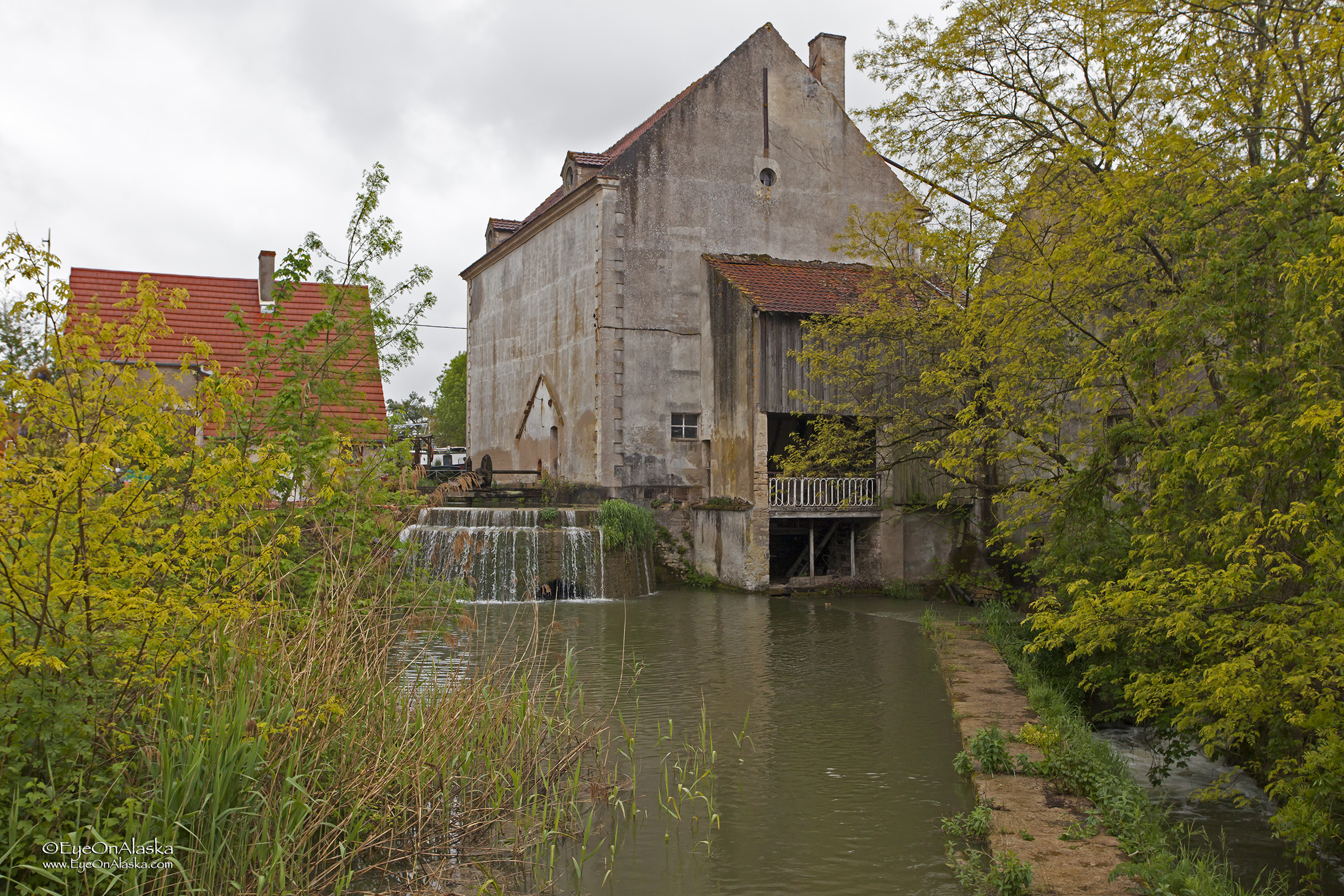An old water powered mill along the canal.