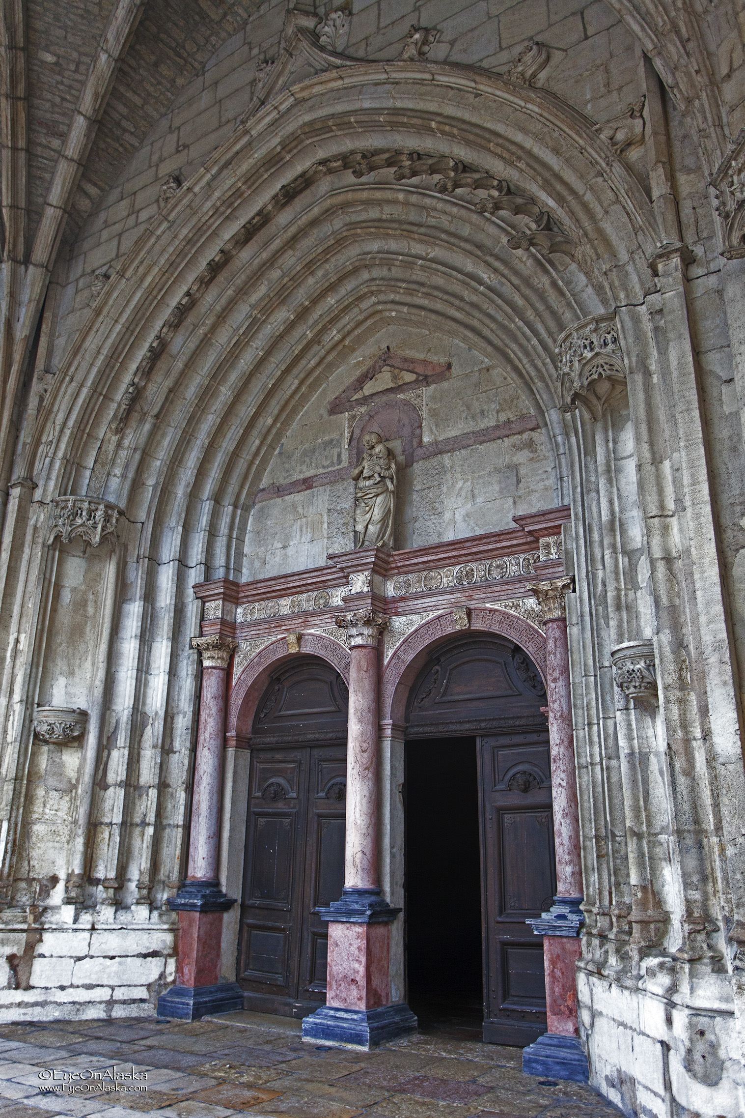 Entrance to the Basilica.