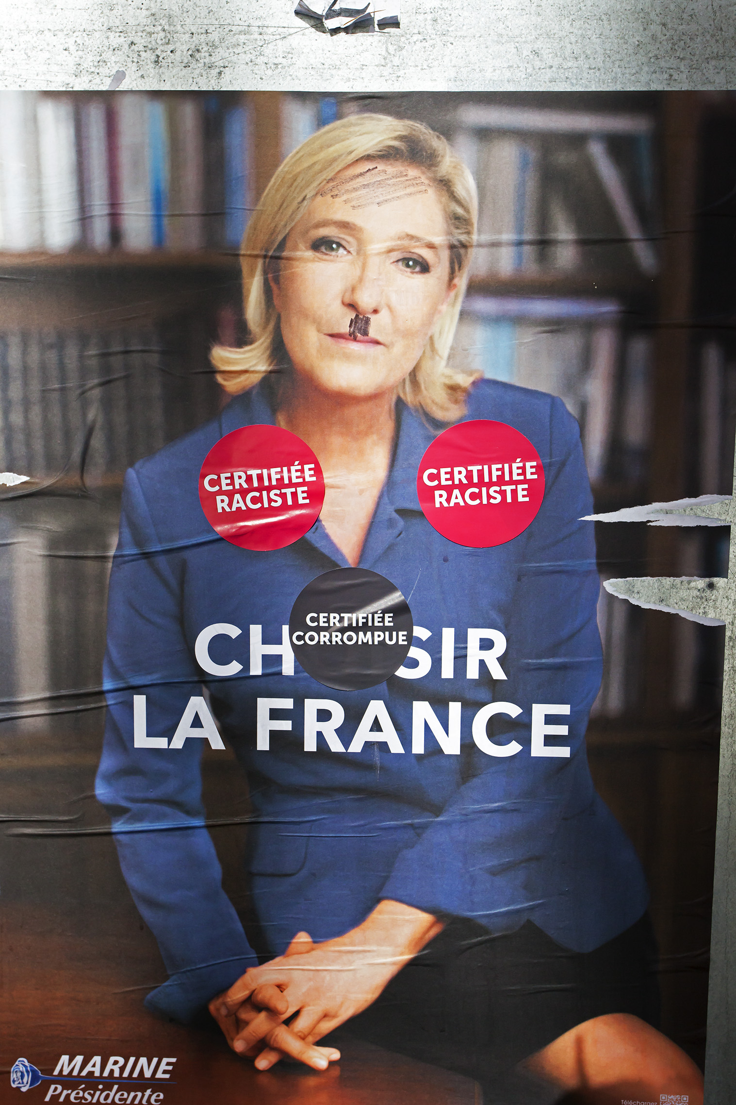 French politics greets us as we stroll through downtown Besançon. The parallels between the election here, which happens Sunday, and the recent elections in America and Great Britain are pretty scary.
