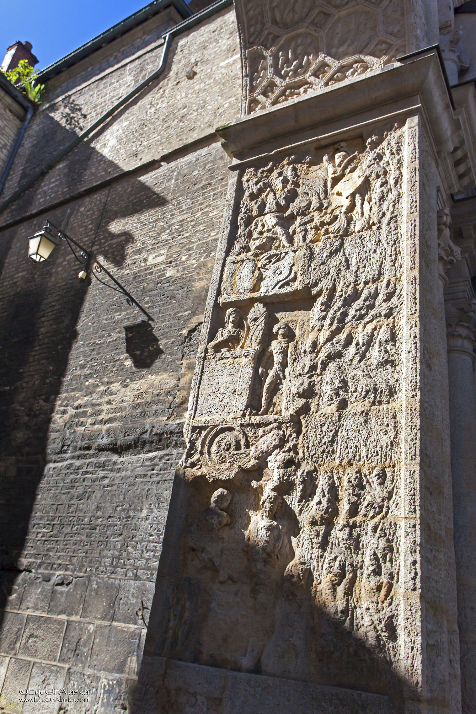 Stonework and carvings near the Cathedral.