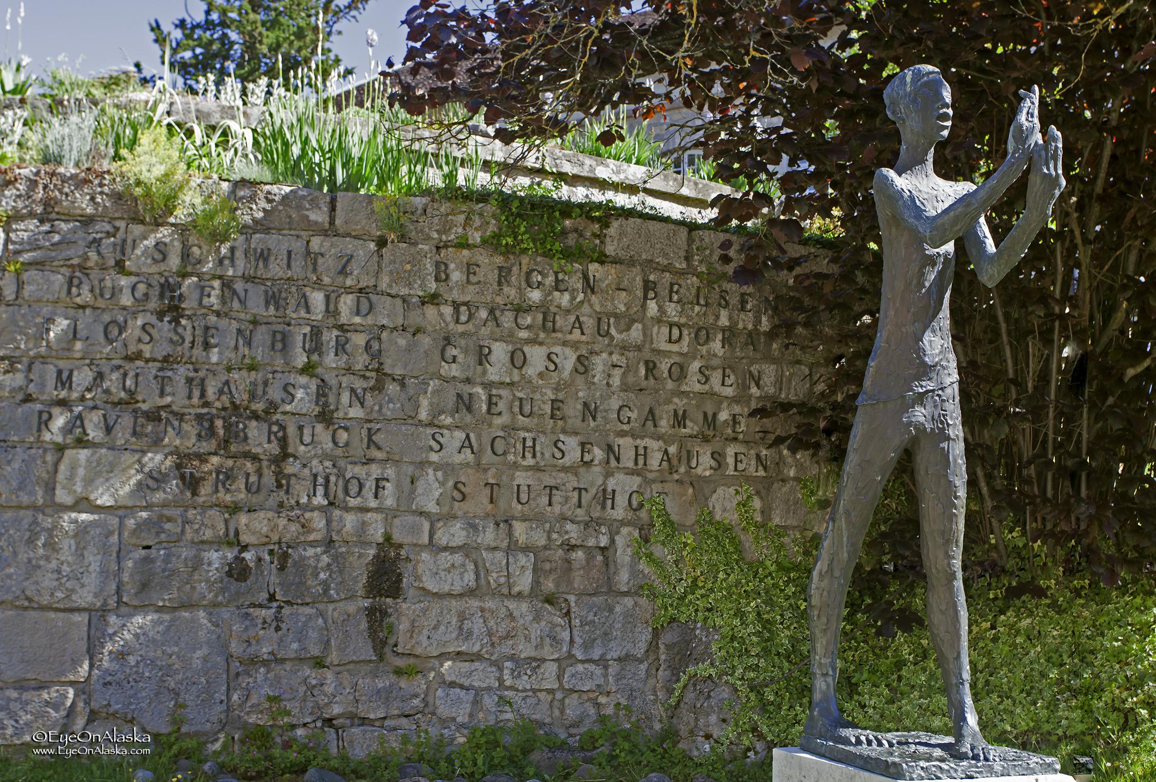 Art work inside the Citadel memorializing the Holocaust.