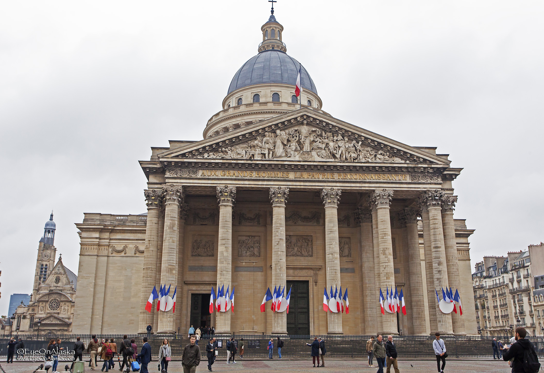 The Pantheon all decked out on Election Day.