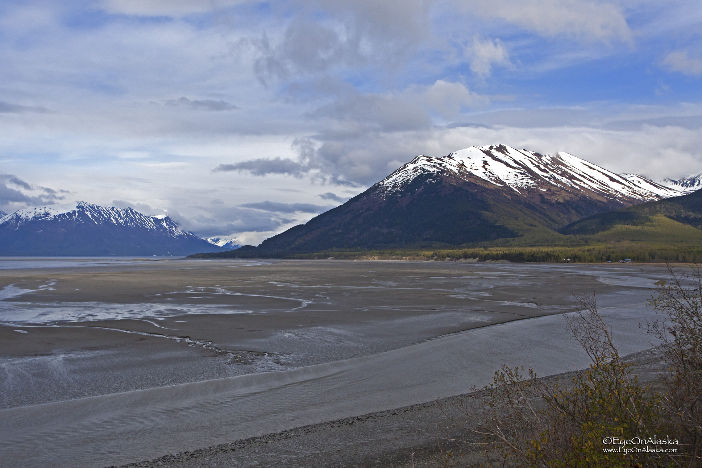 The view towards the end of Turnagain Arm from our campsite at Hope.