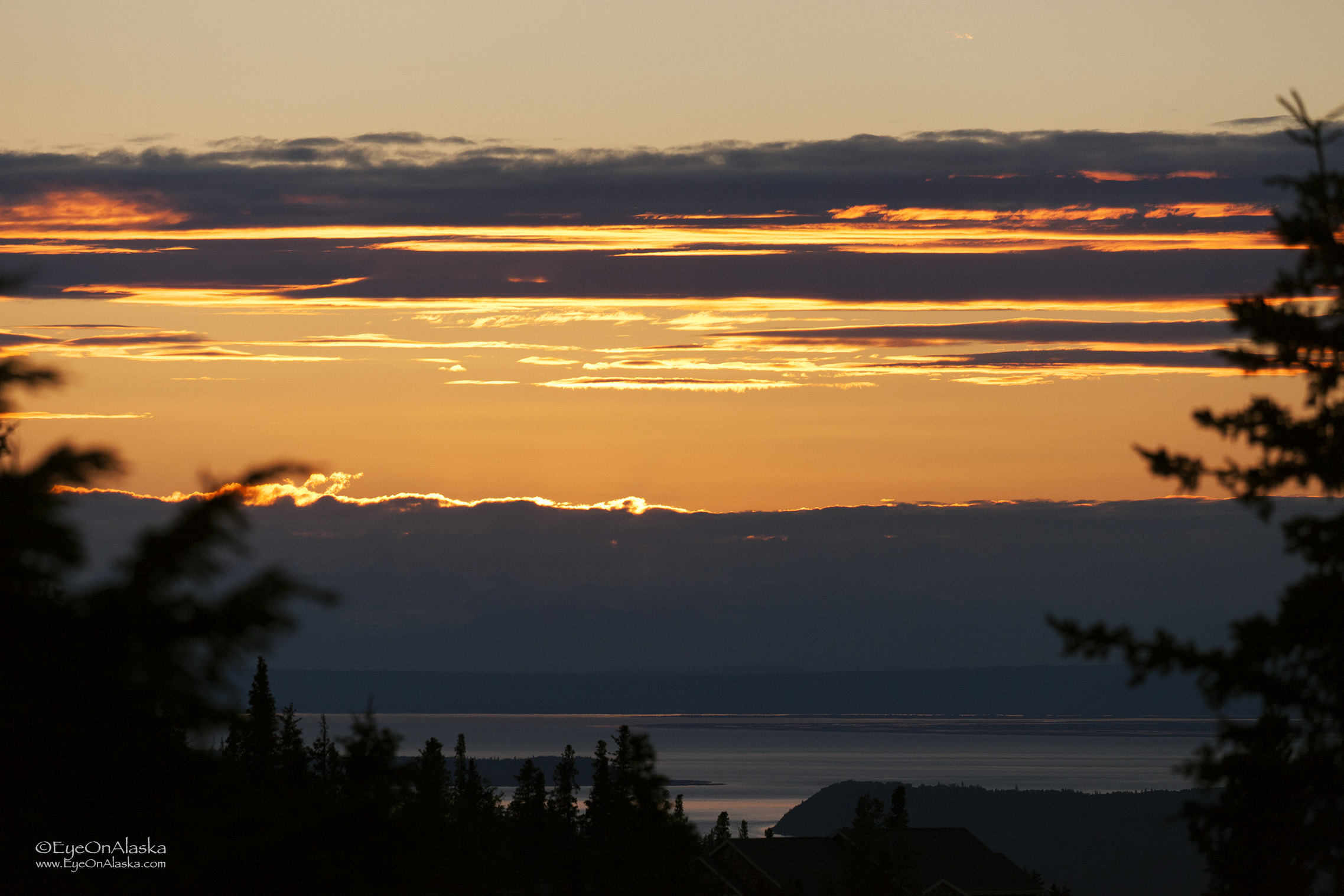 Sunset over Cook Inlet.