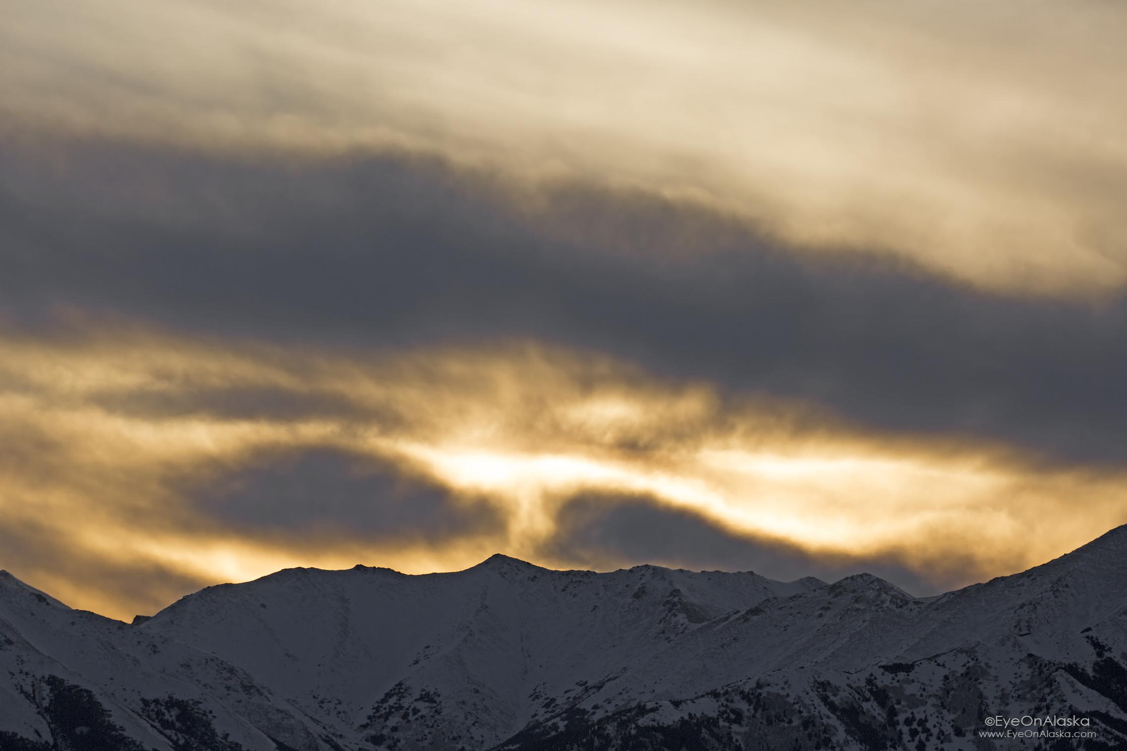 Sunset along the Turnagain Arm.