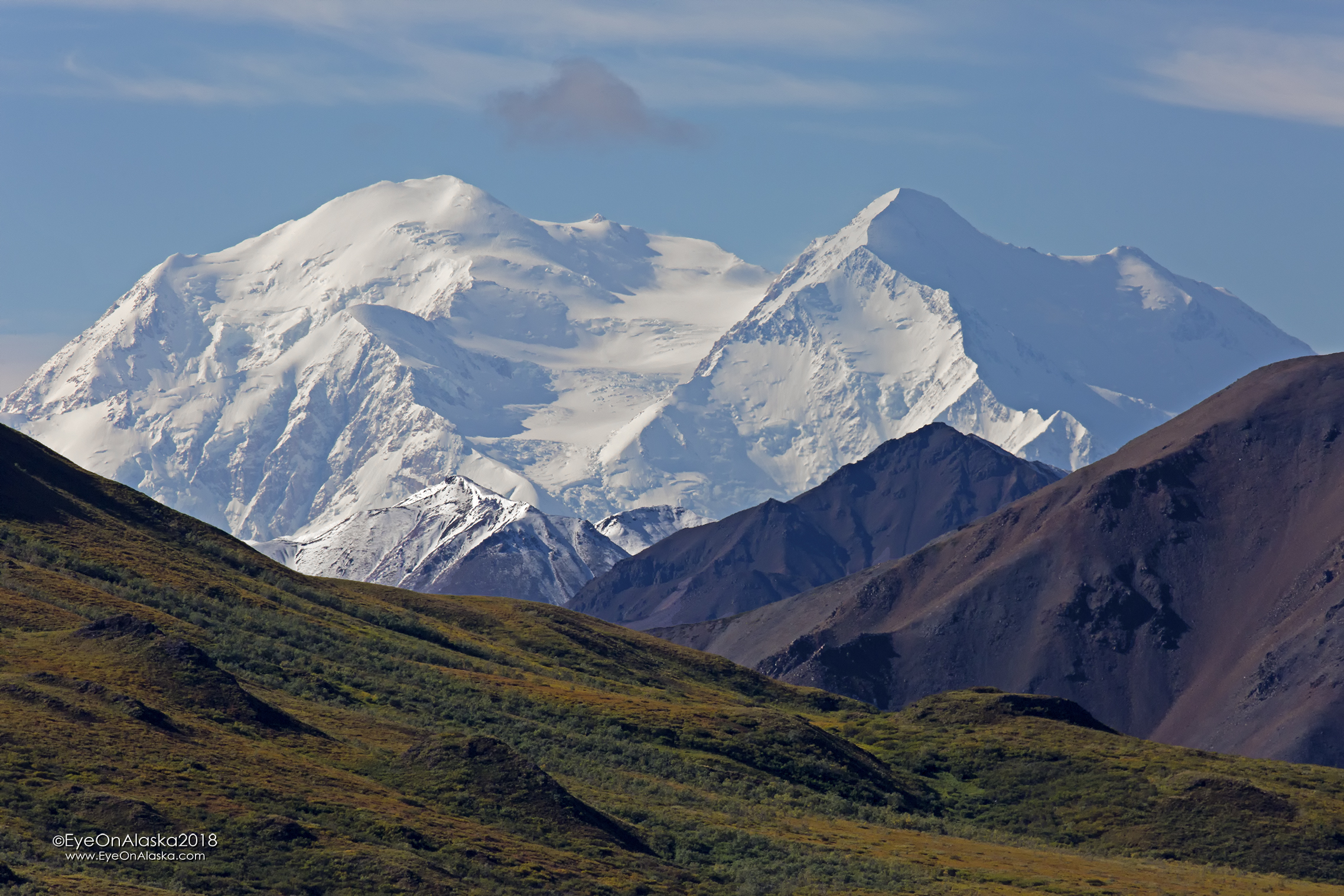 Denali is out on what's going to be the nicest day in the Park on this trip.