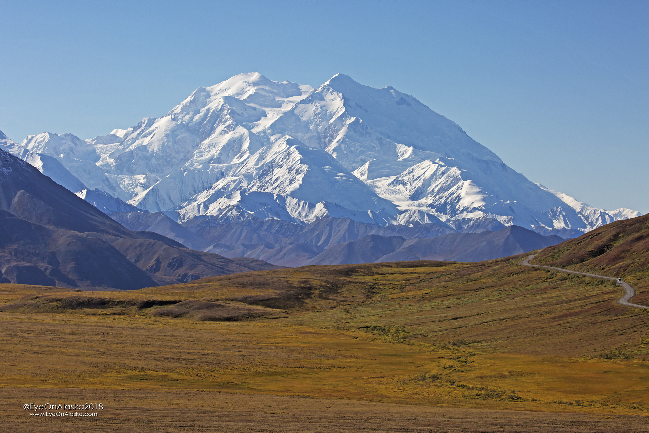 Denali from the Stoney Dome overlook.