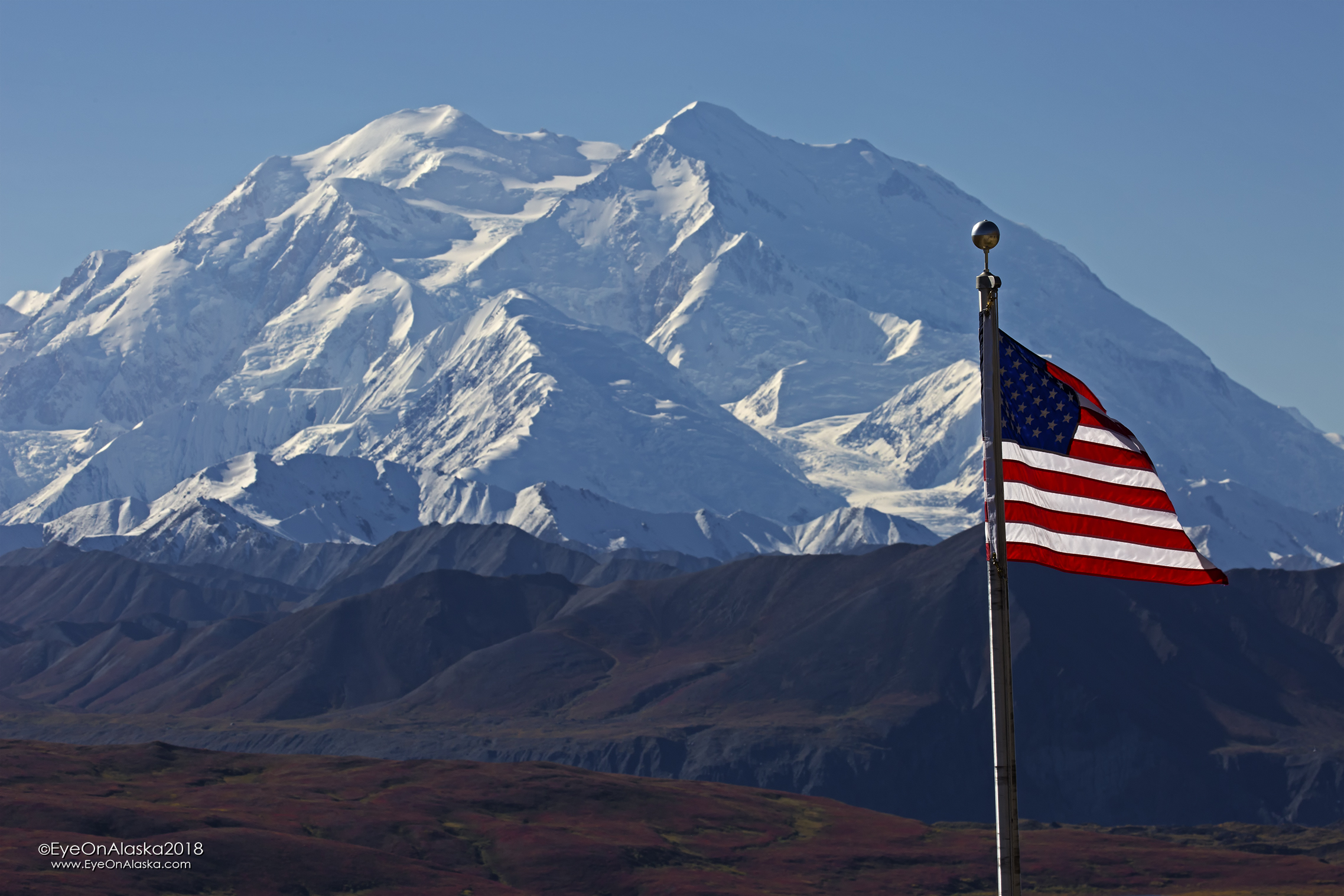 Denali from the Eielson Visitor Center.