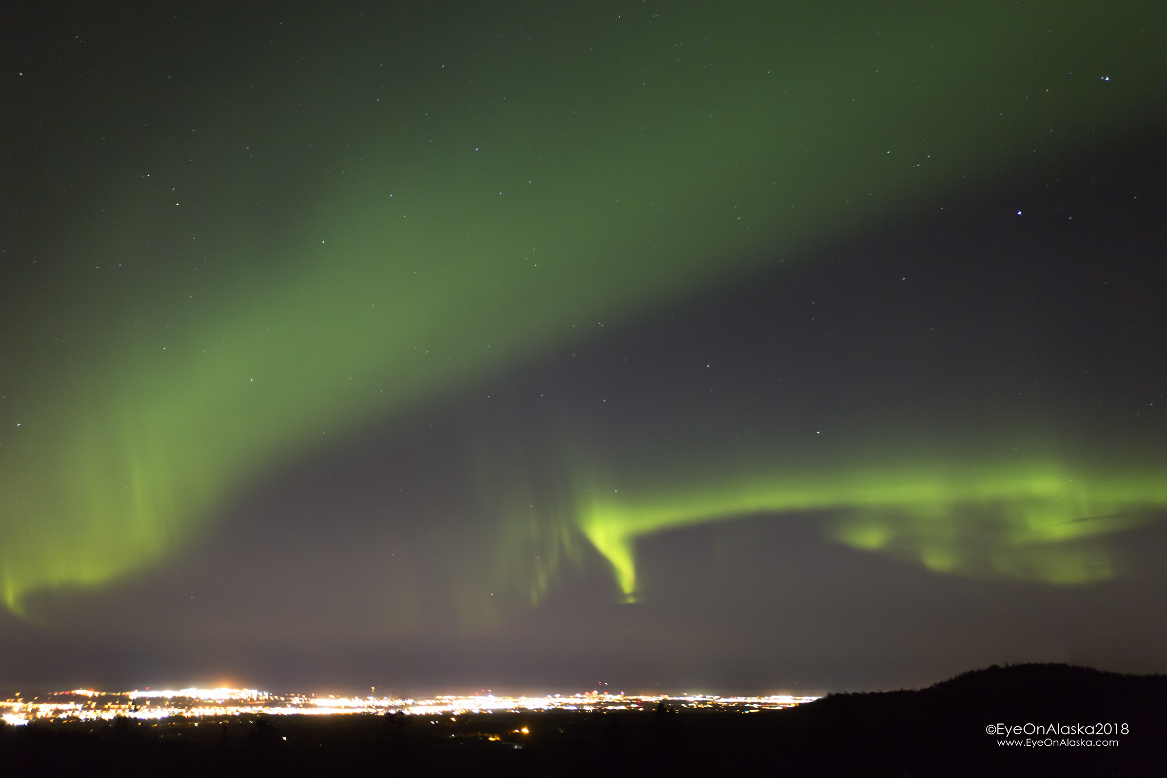 Here we go.  Aurora over Anchorage.