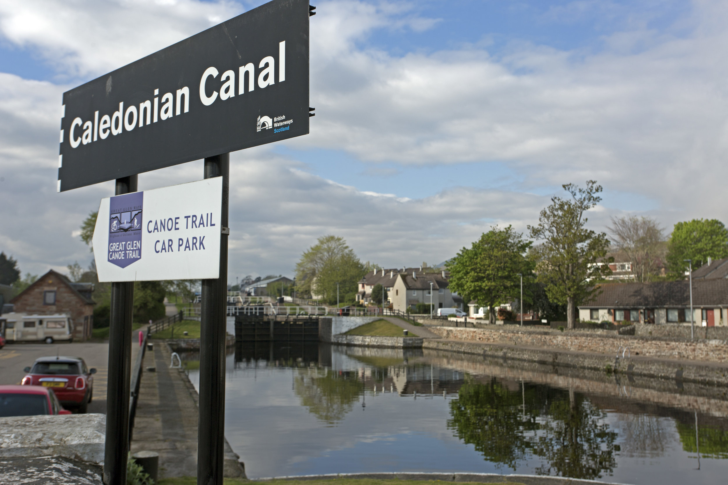 The very start of the Caledonian Canal, from Inverness to Fort William. We will pick up our rental canal boat tomorrow and begin our journey.