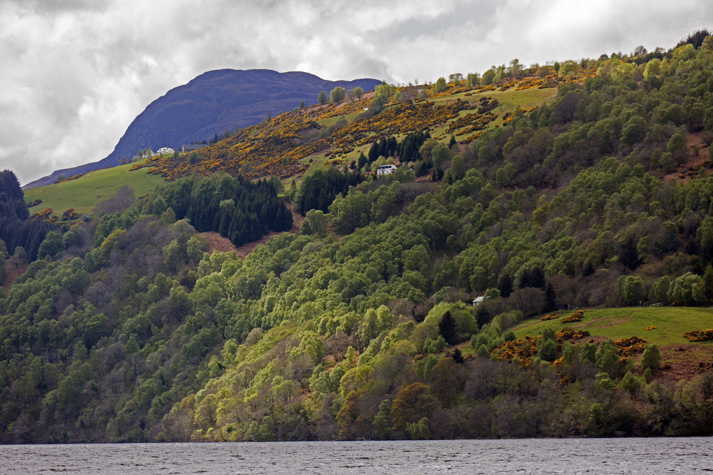 The scenery along Loch Ness just gets better and better.