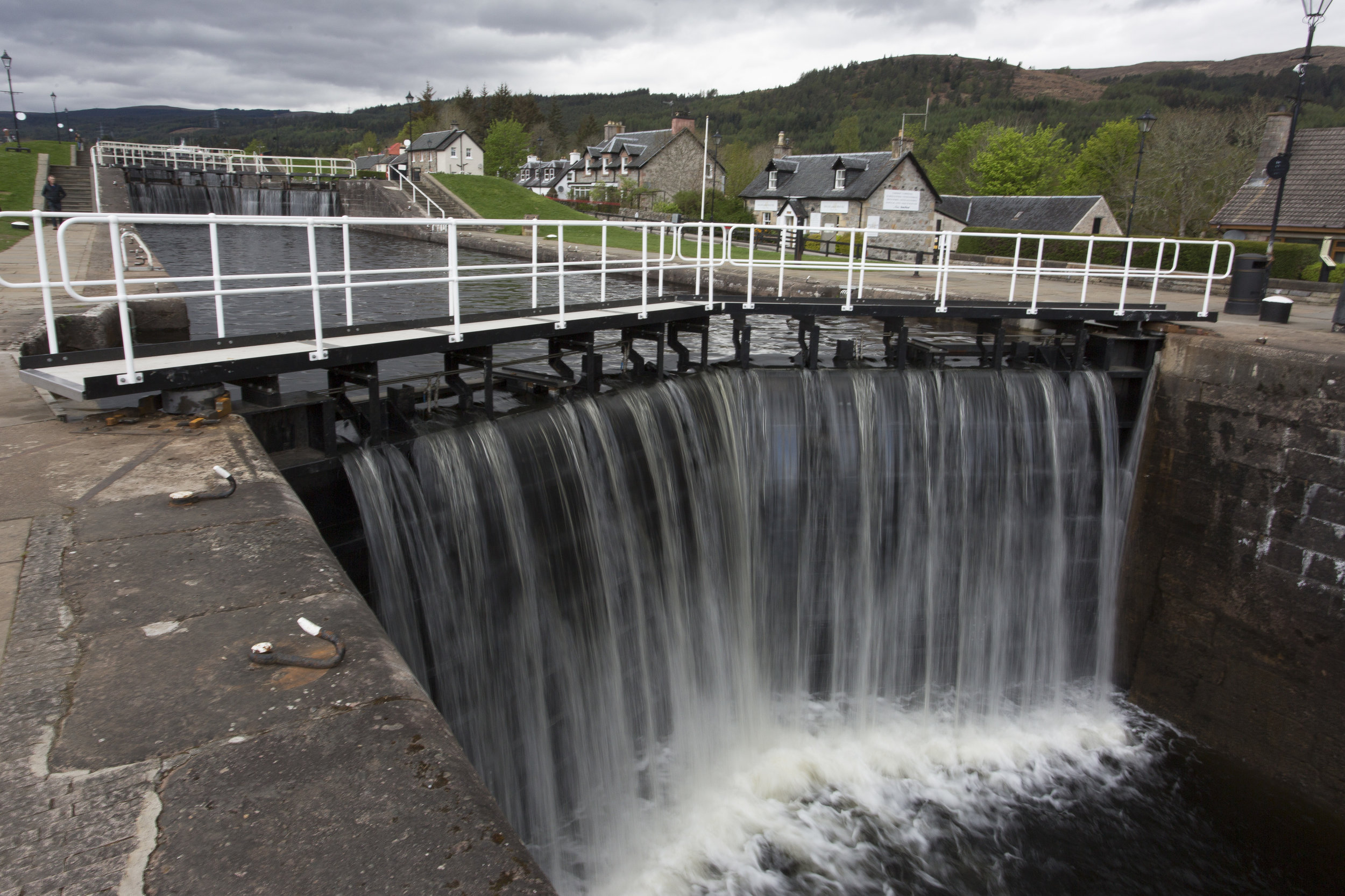 One of the 5 locks at Fort Augustus.