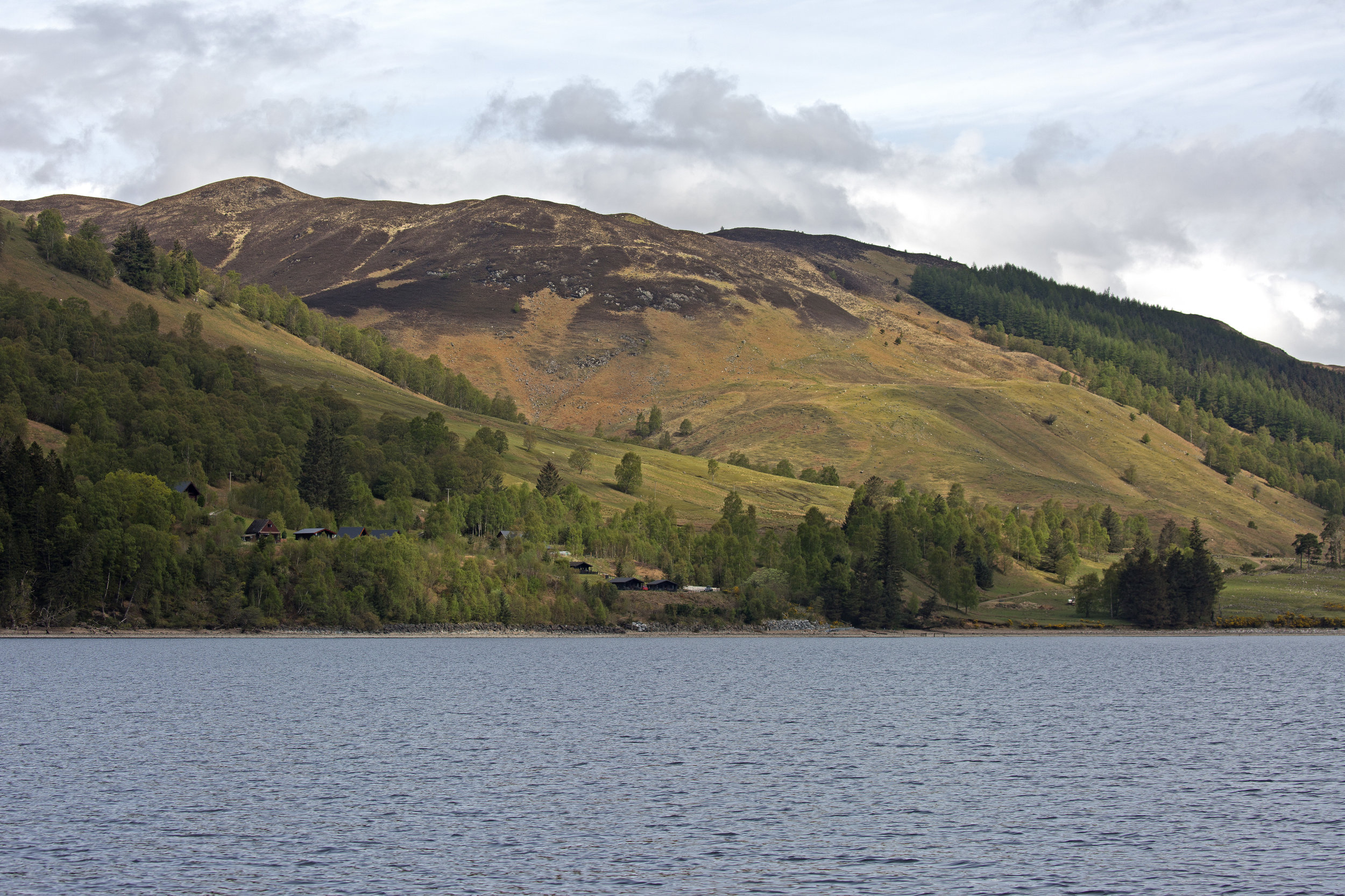 The scenery and weather while we're on Loch Lochy is beautiful.  It's actually kind of hot out ;)