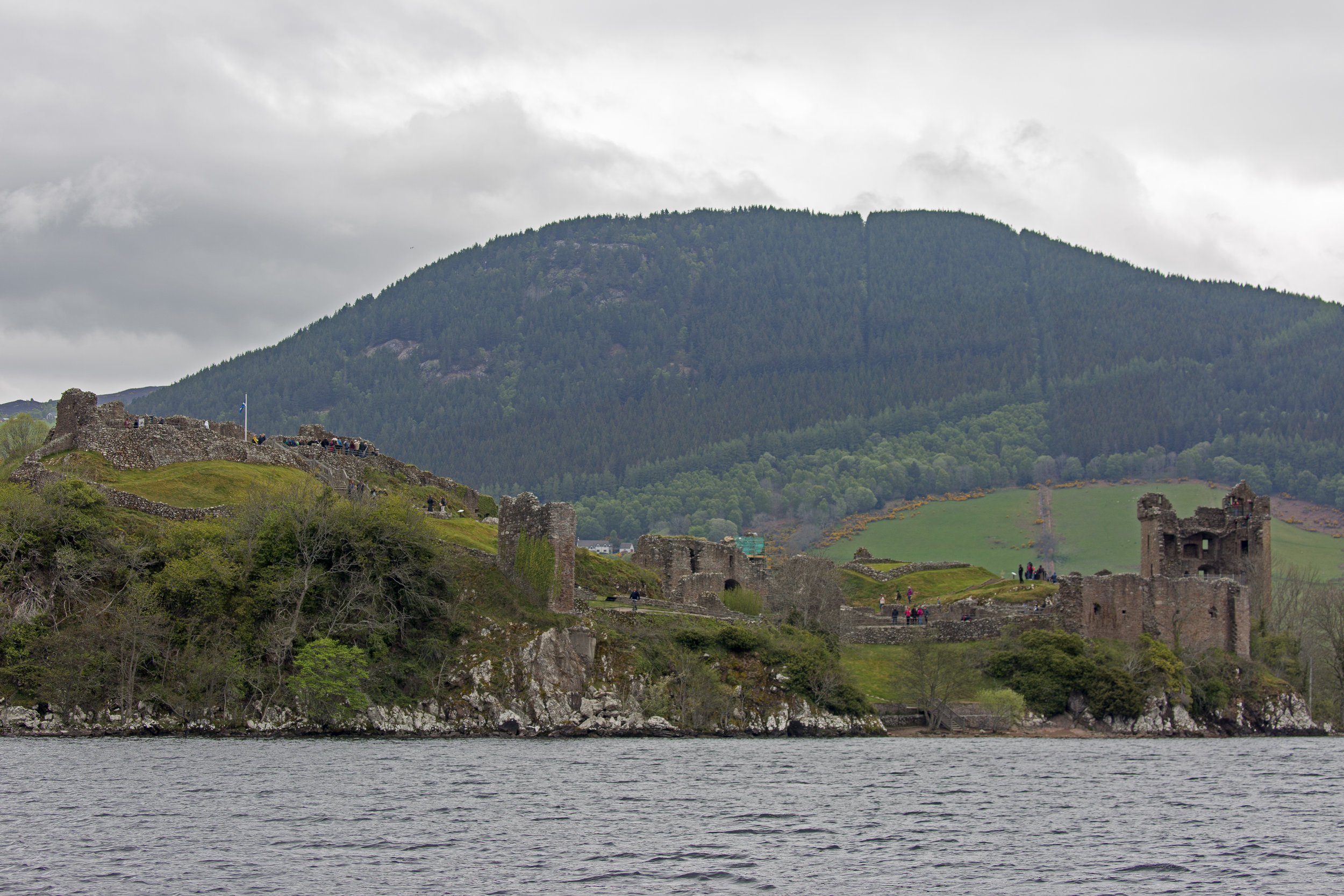 The ruins of Urqhart Castle.