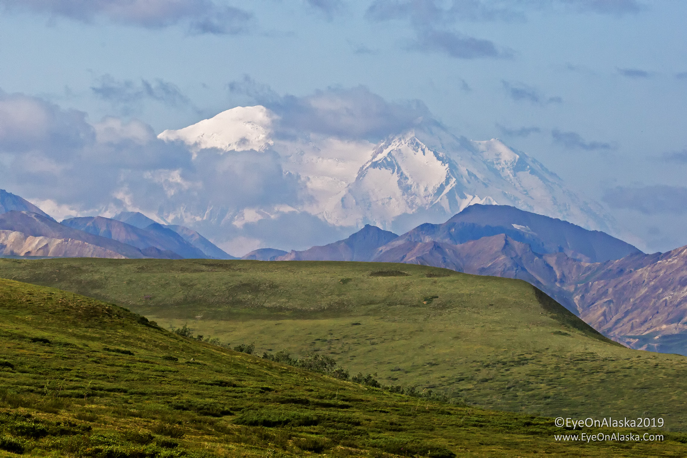 The clouds rapidly clear around Denali and we're treated to this view.