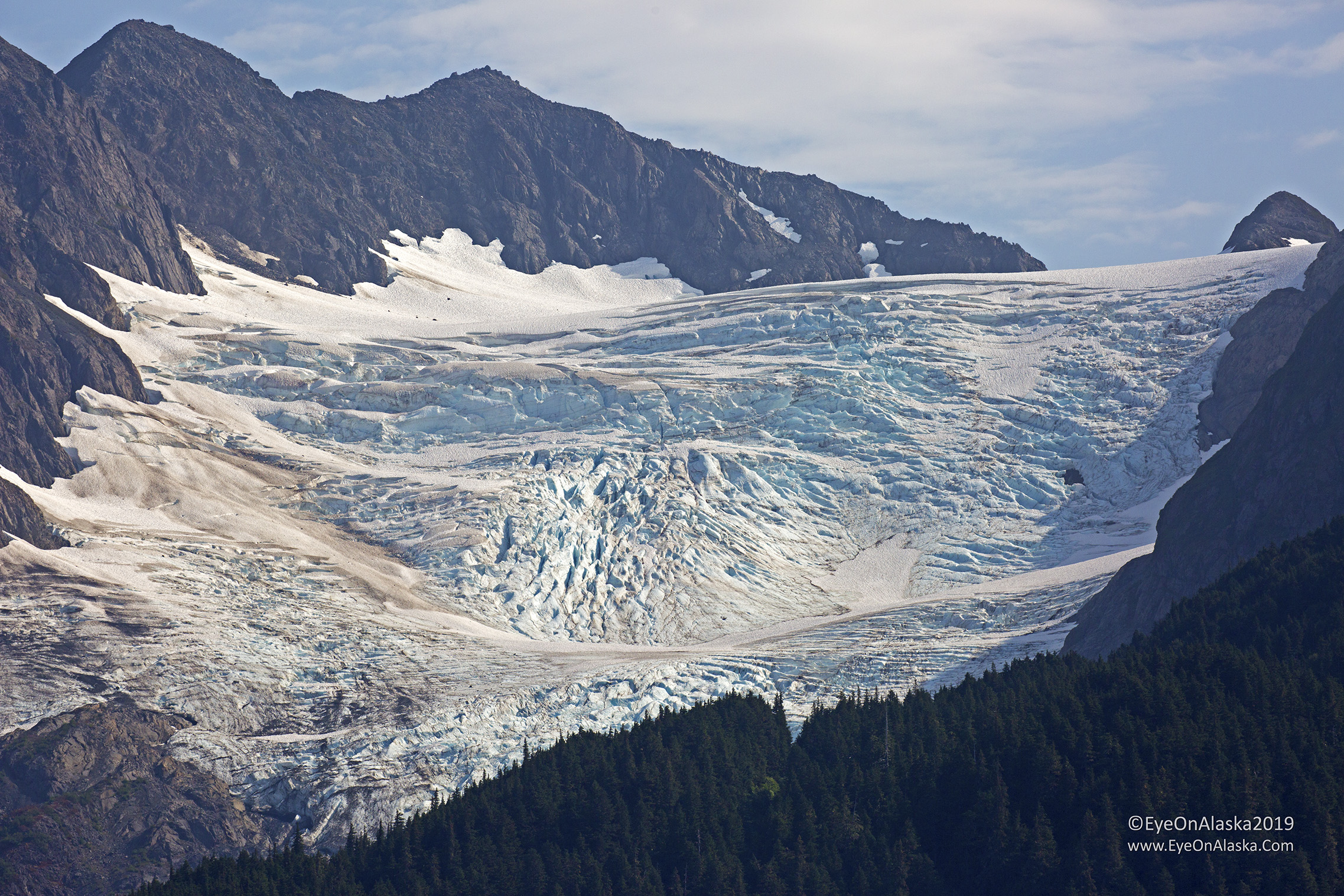One of the many glaciers in Portage Valley.